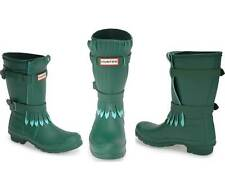 Hunter Limited Green Fringed Rubber Rain Boots US 7 UK 5 EU 38 New Gummistiefel