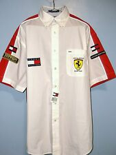 NWT TOMMY HILFIGER SHIRT Ferrari Racing Men L/Large Limited Edition Patches