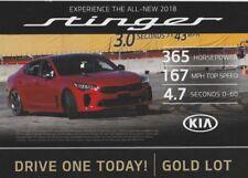 2017 Kia Stinger SEMA Show Promo info card