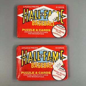Lot Of 3 Donruss 1993 Hall Of Fame Baseball Greats Wax Pack Mickey Mantel Puzzle