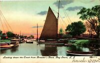 Vintage Postcard - 1908 Brewter's Dock Bay Shore Long Island New York NY #4304