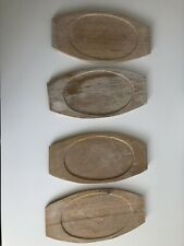 Vintage Japan Nordic Ware Sizzler Platter Holder Steak Fajita Plate set of 4