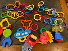 Lot of Baby toys: 30 links, Fisher Price rattles Tool Shaped & others