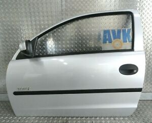 Tür links komplett Fahrertür silber Z157 Opel Corsa C 3-Türer