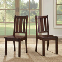 Wood Dining Chair Set of 2 Mocha Rich Honey Better Homes and Gardens Bankston