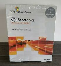 MICROSOFT SQL SERVER 2005 STANDARD x64 EDITION with 5 CALS ( 228-04013 )