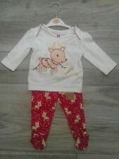 Baby Girl My First Christmas Outfit 3/6 New With Tags