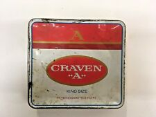 VINTAGE A ORIGINAL CRAVEN A KING SIZE FILTER CIGARETTES TIN CAN