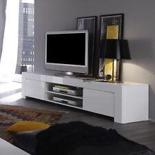 Mobile base Porta tv Amalfi 190 cm grande laccato bianco lucido porta hi-fi