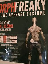 Morph monster Costumes adult Zomble full tight body stocking see thru drink thru