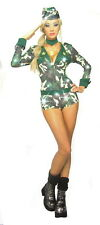 Army Girl  Costume  Smiffys Ladies Soldier Fancy Dress Costume size 6/9