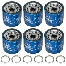 OEM 1990-2018 Subaru Engine Oil Filter & Gasket Set (x6) 15208AA12A & 11126AA000