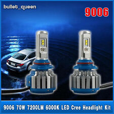 2x 9006 HB4 6000K 70W 7200LM Turbo LED Cree Headlight Bulbs Conversion Kit USA