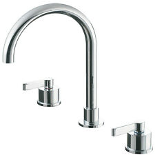 Ideal Standard Silver 3 tap hole basin mixer tap. Bathroom E0062AA