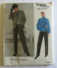 Vogue Emanuel Ungaro Sewing Pattern 1197.Designer.Paris Original: Size 16 Uncut