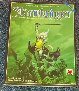 Stormbringer 4th Edition RPG Core Rulebook 1990 Chaosium basic roleplay Elric