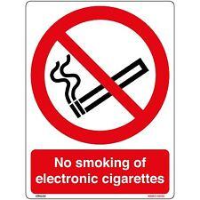 No Smoking mit Elektronische Zigaretten Schild Aufkleber (150 x 200mm)