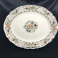 Vintage JOHNSON BROS Fleur L'Orange Serving Platter Ironstone