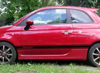 Seitenstreifen Fiat 500 Abarth Aufkleber schwarz matt oder Wunschfarbe