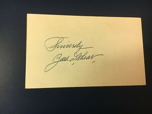 original baseball HOF player ZACK WHEAT SIGNED INDEX CARD (deceased 1972)