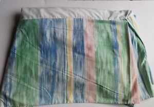 Croskill Full Size Dust Ruffle Bed Skirt RN 21857 Pink Blue Green Touch Yellow