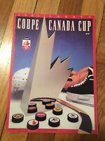 1991 LABATT COUPE CANADA CUP OFFICIAL SOUVENIR PROGRAM MAGAZINE