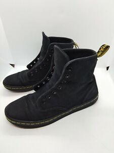 Doc Martens Shoreditch Black Canvas  Boots Airwair  women's 6