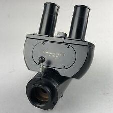 Leitz Ortholux Microscope Trinocular Head 512 088 Amp 2 8x Amp 1 Gf10x Periplan