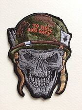 D444 // ECUSSON PATCH AUFNAHER TOPPA / NEUF / SOLDAT MORT VIVANT TO HELL AND BAC