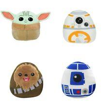 Set Of 4 Disney Star Wars Squishmallow Mini 5 Inch Chewie, R2D2, Baby Yoda, BB8