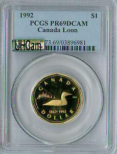 1992 CANADA LOON $1 PCGS MAC PR69 UHCAM ULTRA HEAVY CAMEO SPOTLESS *