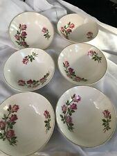 6 X J & G MEAKIN ENGLAND BOWLS 'QUEEN'S ROSE' DESIGNED BY PAUL GRANET' AS NEW