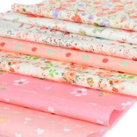 NEW 9pc BUNDLE dots floral pink COTTON FABRIC Joblot Mixed Craft Quilting