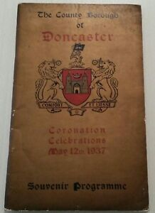 VINTAGE ROYAL BOOKLET.1937.DONCASTER.CORONATION-KING GEORGE VI & QUEEN ELIZABETH