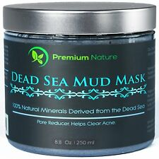 Dead Sea Mud Mask for Face and Body - 8 oz Melts Cellulite Treats Acne Strech Ma