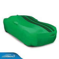 Satin Stretch™ car cover Synergy green, dark green stripes fits 2010-2015 Camaro