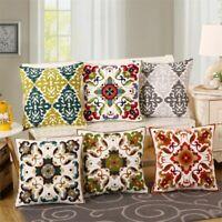 Pillow Gifts Funda de cojín de almohadas lumbares con bordado de estilo nacional