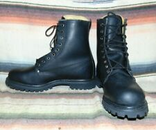 Mens Vintage Vikings Black Leather Lace Up Cowboy Work Boots 12 D NEW In Box