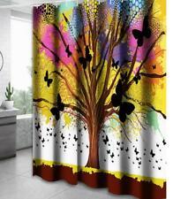 Shower Curtain Hooks Set Bathroom Bathtub Liner Cover Painting Art Home Decor