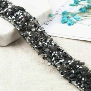 1Yard Bling Crystal Rhinestone Ribbon Wedding Dress DIY Craft Sewing Decor Trims
