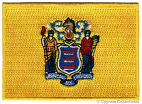 NEW JERSEY STATE FLAG embroidered iron-on PATCH EMBLEM applique