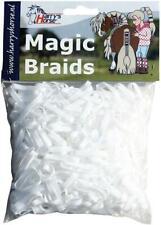 Harry's Horse Magic Braids Plaiting Elastic Bands - White Reusable Harry's Hors