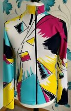 SMS Santini Colourful Zip Cycling Jersey - Mens Size Large - Made In Italy