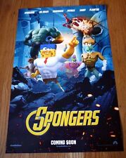 THE SPONGEBOB Movie SPONGE OUT OF WATER sdcc Poster ANTONIO BANDERAS SETH GREEN