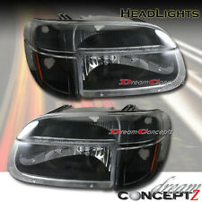 1995-2001 FORD EXPLORER HEADLIGHTS + CORNER LIGHTS BLACK STYLE 4 PIECES