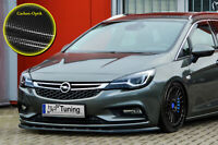 Spoilerschwert Frontspoiler aus ABS für Opel Astra K Sports Tourer Carbon Optik