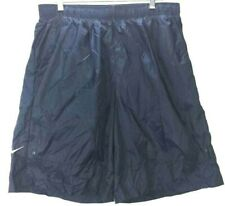 Nike Mens Swim Shorts Navy Blue Mesh Lined Elastic Waist Pockets Big & Tall XXLT