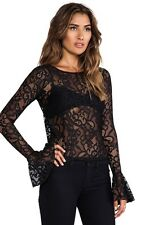 NWT For Love & Lemons Curtsy Lace Top Size XS