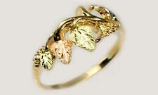 Handcrafted SD Black Hills 12kt Red Green Gold Leaf Ring Ancient Egypt God Flesh