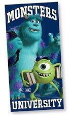 Oficial Disney Monsters University Playa Baño Algodón Toalla Monsters Inc Regalo